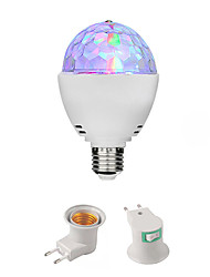 cheap -3W E27 DJ Disco Stage Light Ball Lamp RGB Rotating Ball Lamp for LED Bulb Family PartyBirthdayFestivalDesk Decoration(with E27 to EU Plug Adapter)