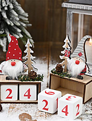 cheap -Santa Claus Wooden Calendar Decorations Decorations Calendar Countdown Decorations