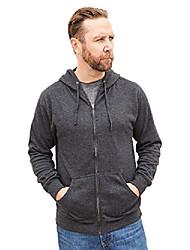 cheap -men's lightweight full zip hoodie long sleeve hooded sweatshirt charcoal heather small