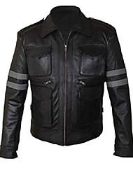 cheap -men's black genuine lambskin leather jacket bomber biker moto jacket