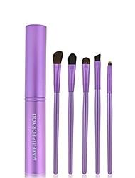 cheap -5pcs perfect fashion professional makeup eye eyeshadow brushes cosmetic set round tube (c)