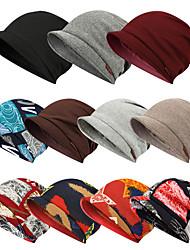 cheap -Women's Men's Ski Hat Beanie Hat 1 PCS Winter Outdoor Portable Breathable Warm Soft Skull Cap Beanie Hat Solid Color Wool Nylon dark brown Dark Grey Red / White for Fishing Climbing Beach
