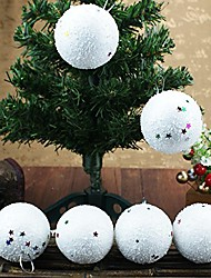 cheap -6 pcs 40mm christmas balls ornaments for xmas tree - shatterproof christmas tree holiday decorations pendant large foam matte hanging ball seasonal decorative baubles set