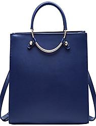 cheap -leather handbag for women fashion ladies shoulder purse top handle bag royal blue