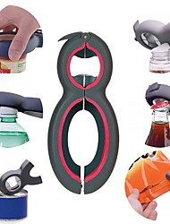 cheap -Creative Six-in-one Multifunctional Combination Can Opener Bottle Opener Canning Knife 6in1 Bag Sealer
