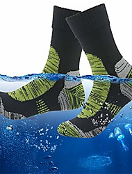 cheap -socks men's women's waterproof coolmax moisture wicking sports cushioned thermal hiker winter crew socks 1 pair black green small
