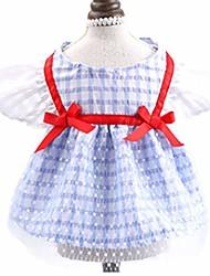 cheap -sisave pet clohtes breathable wedding dresses lovely bow skirt & #40;x-small, blue& #41;