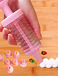 cheap -1 Set Delicate Cake Decorating Icing Piping Cream Syringe Tips 8 Nozzles Set Tool for kitchen baking Tools