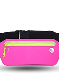 cheap -fitness waist pack with adjustable fastener fanny pouch for men and women runners hiking gear marathon for holding cards, money, sports,travel, jogging, cycling, hiking (pink)