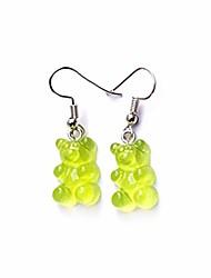 cheap -tiande creative food fruit acrylic big drop dangle stud earrings for women girls -green
