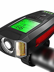 cheap -bicycle code watch with horn lamp, multi-function wireless code watch bicycle headlight with light, suitable for hunting, cycling, hiking, camping and outdoor activities (color : black)
