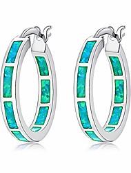 cheap -green opal huggie hoops sterling silver plated hypoallergenic earrings for women girls with sensitive ears fashion hoop earrings
