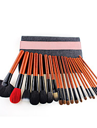 cheap -Fashion denim pattern professional animal hair 25 makeup brush set high-end beauty tools