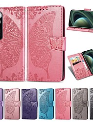 cheap -Case For Xiaomi Poco X3 NFC Mi 10 Ultra Wallet Card Holder with Stand Full Body Cases Butterfly PU Leather Case For Redmi 9A 9C Redmi 10X Pro 5G Note 9 Pro Mi Note 10 Lite Poco F2 Pro K30 Pro Zoom