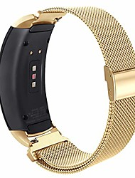 cheap -compatible gear fit2 pro/ fit2 band, metal stainless steel replacement accessories strap for samsung gear fit 2 pro sm-r365/sm-r360 smartwatch(gold, large)