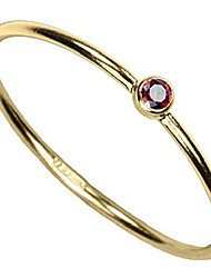 cheap -14kt gold filled garnet-red-color cz stacking ring size 7