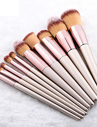 cheap -10 Pcs Champagne Gold Makeup Brushes Set Small Grape Powder Brush Eye
