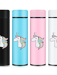 cheap -Unicorn 500ML Thermos Vacuum Flasks Temperature Display Stainless Steel Water Bottle Travel Coffee Tea Mug Cup Warm