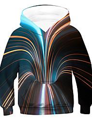 cheap -Kids Boys' Hoodie & Sweatshirt Long Sleeve 3D Rainbow Children Tops Active
