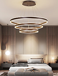 cheap -40 60 80cm Circle Design Pendant Light Aluminum Modern Nordic Style Dining Room Living Room Chandelier 110-120V 220-240V