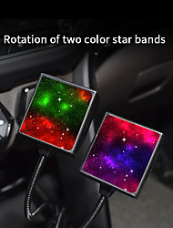 cheap -C208 Car Project Multiple Interior Mood Lighting Patterns Laser LightIn Car 2 Patterns To Choice Red Blue Or Red Green 1PCS With USB Port