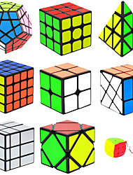 cheap -Speed Cube Set 9 pcs Magic Cube IQ Cube 2*2*2 3*3*3 Speedcubing Bundle Stress Reliever Puzzle Cube Gift Speed Kid's Toy Gift