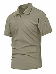 cheap -men's military short sleeve shirt tactical pullover outdoor t-shirt army combat polo shirts (khaki,2xl)