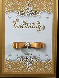 cheap -Guest Book Wedding With Satin Bow / Crystals / Rhinestones Guest Book