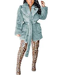 povoljno -ženski dugi rukav zima topli rever lisica jakna od umjetnog krzna kaput odjeća s džepovima