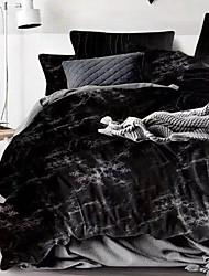 cheap -Marble Print 3-Piece Duvet Cover Set Hotel Bedding Sets Comforter Cover with Soft Lightweight Microfiber ,Full/Queen/King(Include 1 Duvet Cover and 1or 2 Pillowcases)
