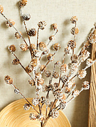 cheap -Artificial Plants Pine Ball Branch Natural Dried Plants Christmas Decorations Home Wedding Party Accessories 1 Bouquet 25*67.5cm