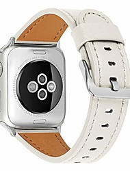 cheap -compatible with apple watch band 38mm 40mm, 42mm44mm genuine leather watch strap compatible with apple watch series 6/5/ 4/ 3 /2/ 1,se sport and edition (ceramic white/silver , 38mm40mm)