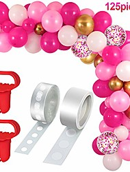 cheap -129 pieces halloween balloons christmas balloons arch garland kit, include latex balloons confetti balloons, balloon tie tools, balloon strip tape, adhesive dots for christmas halloween party