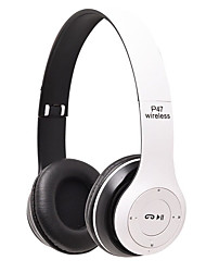 cheap -P47 Wireless Bluetooth Headphones Multi-functional Stereo Device Portable with Two High-end Speakers