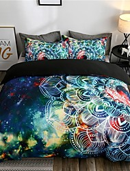 cheap -Vintage Bohemian Style Boho Pattern Print 3-Piece Duvet Cover Set Hotel Bedding Sets Comforter Cover with Soft Lightweight Microfiber ,Full/Queen/King(Include 1 Duvet Cover and 1or 2 Pillowcases)