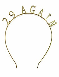 cheap -golden metal birthday statement tiara style headband novelty party gift for women 29 again