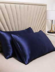 cheap -Silky Satin Pillowcase for Hair, 2 Pack Standard Size Luxury Satin Pillowcase for Hair and Skin with Envelope Closure