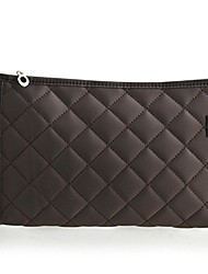 cheap -cosmetics pouch travel case make up bags for lady accessory organizer (coffee)