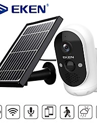 cheap -EKEN Safety-Monitor Astro Solar energy 1080P Wifi Battery Camera IP65 weatherproof Motion Detection IR Night Vision Wireless IP Camera