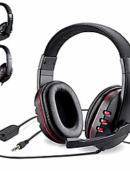 cheap -Head-Mounted Stereo Gaming Headset For Xbox one PS4 PC 3.5mm Wired Over-Head Gamer Headphone With Microphone Volume Control Game Earphone