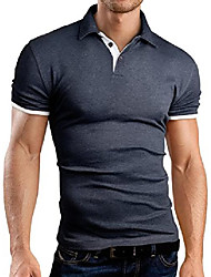 cheap -slim fit contrast poloshirt polo, grey, s, gb160
