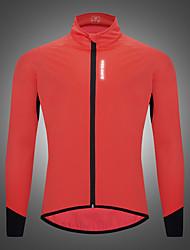 cheap -WOSAWE Men's Women's Cycling Jacket Winter Bike Jacket Tracksuit Windbreaker Windproof Warm Sports Solid Color Pink Clothing Apparel Bike Wear / Long Sleeve / Athletic