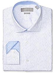 cheap -men's slim fit non-iron  dress shirt, medium blue, 16 32/33