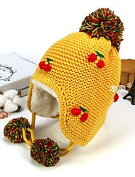 cheap -1pcs Toddler Unisex Active Cartoon Embroidered / Knitted Acrylic / Roman Knit Hats & Caps Red / Yellow / Blushing Pink One-Size