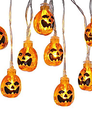 cheap -2pcs 1pcs LED Lantern Halloween Holiday Lights String Manual DIY Pumpkin Light String Battery Ins Style Decorative Light String