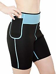 cheap -women's hot sweat body shaper neoprene thigh fat burning slimming sauna suit calorie burner for weight loss black