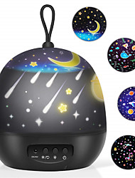 cheap -Baby Night Lights Kids Projector 360 Degree Rotation - 3 LED Bulbs 8 Color Changing Light Romantic Night Lighting Lamp Unique Gifts for Birthday Nursery Women Children Kids Baby (4 Sets of Film)