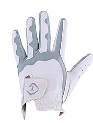 cheap -Golf Glove left Golf Full Finger Gloves Men's Anti-Slip UV Sun Protection Breathable PU Leather Microfiber Training Outdoor Competition Grey / Sweat wicking