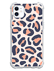 cheap -Leopard Graphic Design Case For Apple iPhone 12 iPhone 11 iPhone 12 Pro Max Unique Design Protective Case Shockproof Clear Back Cover TPU
