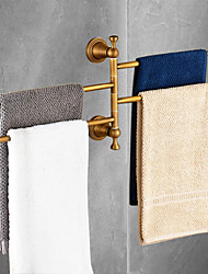 cheap -Towel Bar Antique Brass 1 pc - Hotel bath 4-towel bar